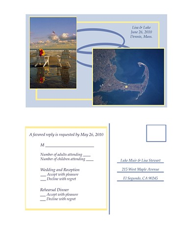 Cape Cod wedding RSVP