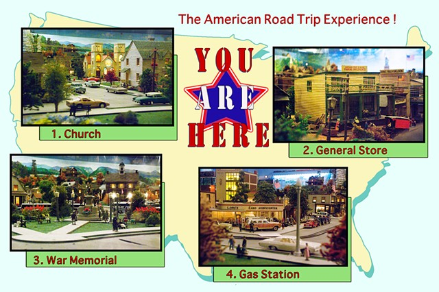 You Are Here menu board for background selection