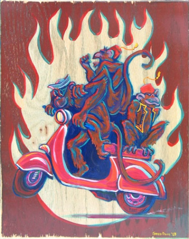 Monkey Vespa  (sold)