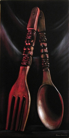 Velvet Fork and Spoon (SOLD)