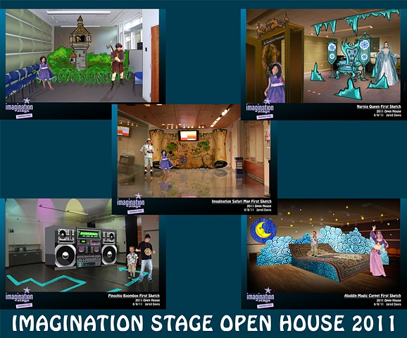 Imagination Stage Open House 2011 Set Designs.