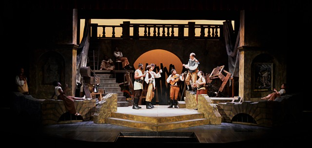 Set design of Man of La Mancha by the Arlington Players