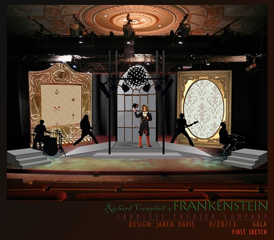 Richard Thompson's Frankenstein set design