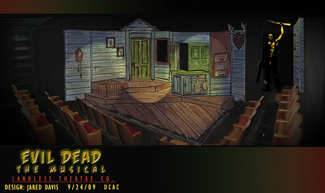 Set Design For Evil Dead the Musical  Landless Theatre Company  DCAC