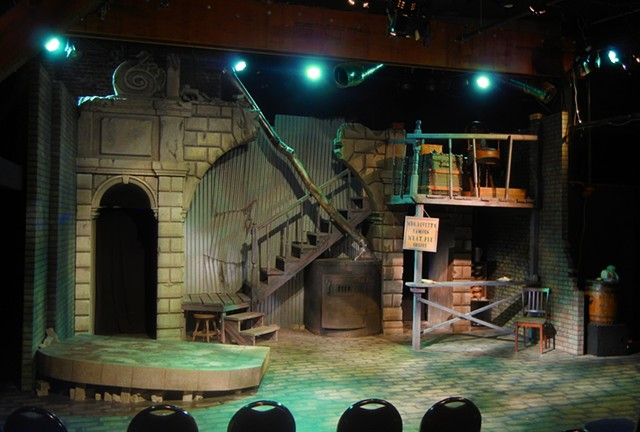 Scenery photo of Landless Theater Company's Sweeny Todd Prog Metal Version