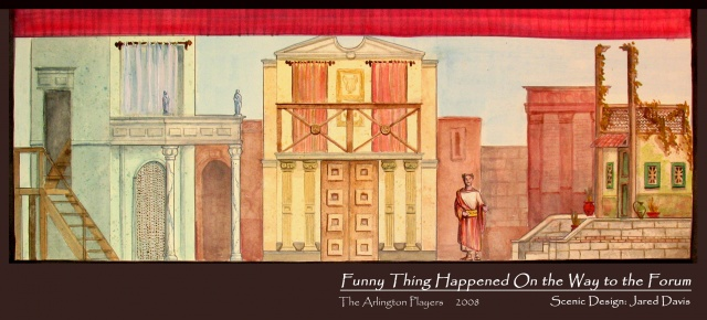 Funny Thing Happened on the Way to the Forum Painters Elevation