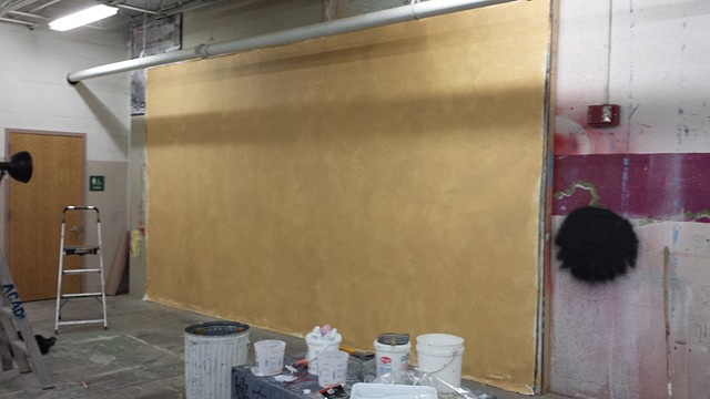 16' x 9' of hand primed cotton duck