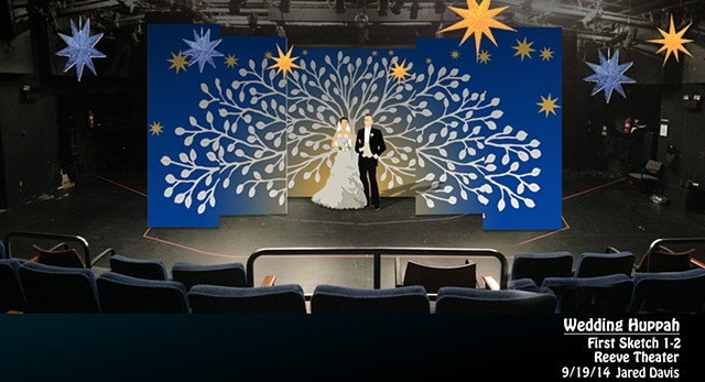 Wedding Set Design in  small Theater