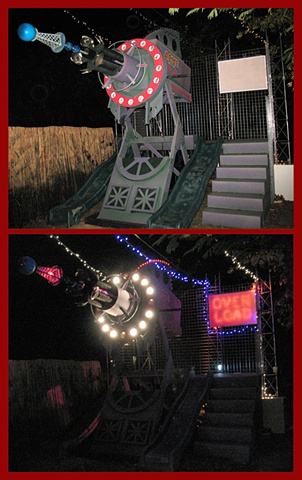 ACME Mail Order Death Ray backyard halloween party display