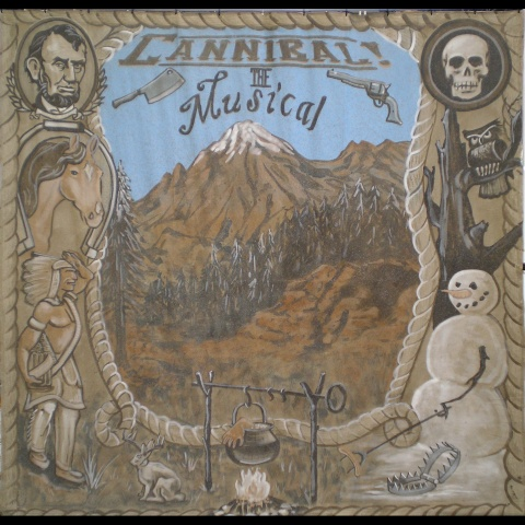 Cannibal The Musical Backdrop, Landless Theater Co.