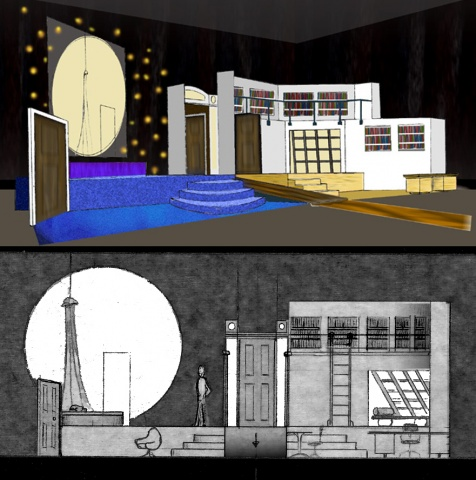 Set Design for Jumpers, Washington Shakespeare Co.