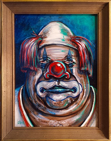 Scary Clown... Part 3 by ChunkiMonki on DeviantArt |Creepy Clown Painting