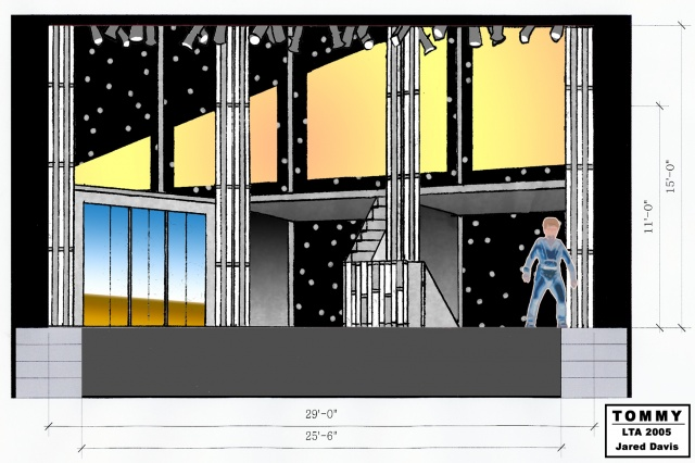 Set Design for Tommy, Little Theater of Alexandria