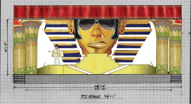 Set Design for Joseph and the Amazing Technicolor Dreamcoat, Arlington Players