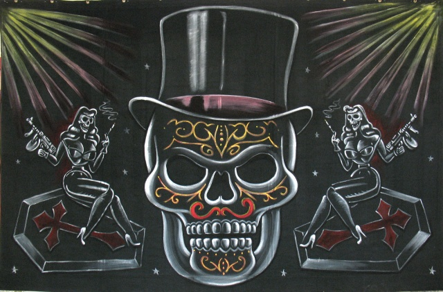 "Stage Right ""Tophat"" Skull for DIAMOND DEAD"