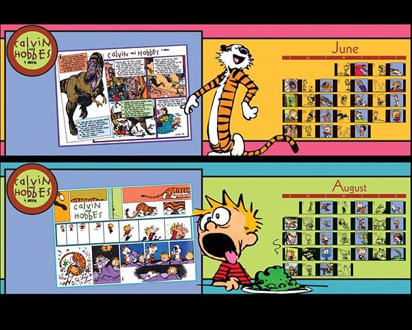 """""""Calvin and Hobbes"""" calendar concepts"""