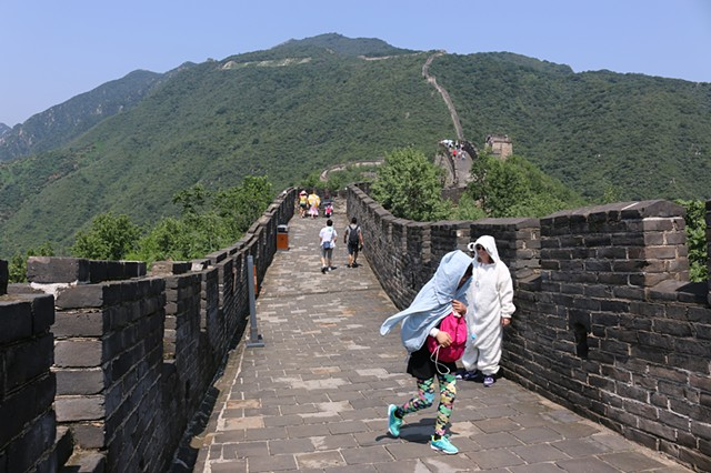 Covered on the Great Wall of China