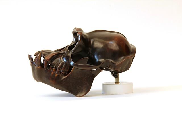 Hominid: Brass Chimpanzee