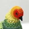 Biodiversity Reclamation Suits for Urban Pigeons: Carolina Parakeet (detail)