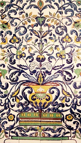 Biltmore-inspired-spanish-style-tile-mural-santa-barbara-california