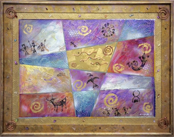 MIXED MEDIA - Ancient Petroglyphs