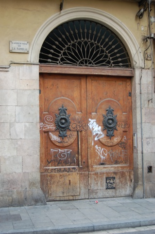 Door in Barcelona