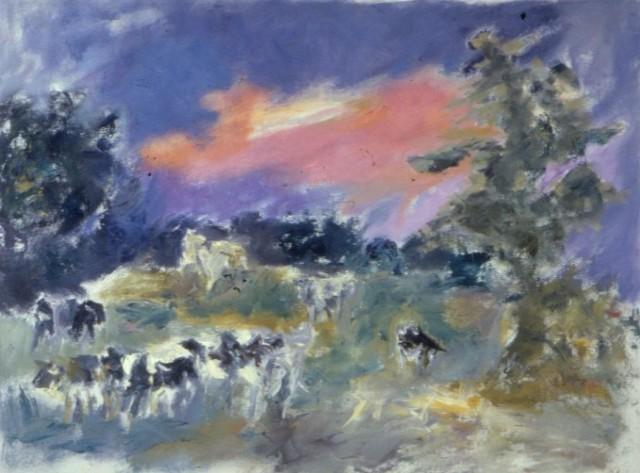 Cows at Dusk
