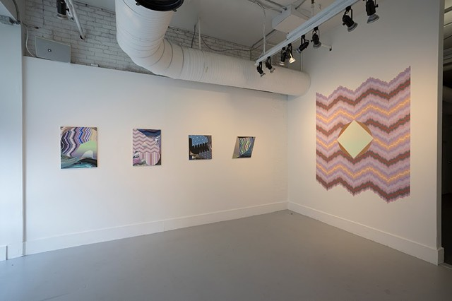 Solo Exhibition, Present Phase, Artspace, New Haven Photo by Jessica Smolinski
