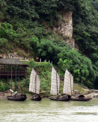 Sampans, Yangtze River