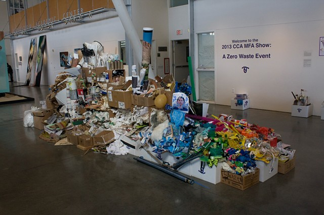 By-Products of the 2013 CCA MFA Show: Two Months of Material Collected from the Graduate Fine Arts Studios Making the Show Zero Waste