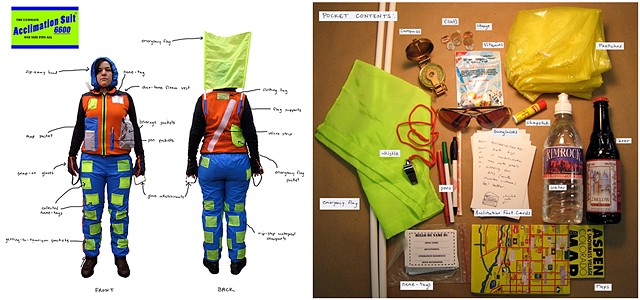 Acclimation Suit and Pocket Contents