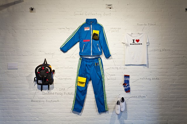 tracksuit, sound collecting suit, recording backpack, hamtramck, detroit, art
