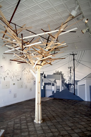 Hamtramck, Public Pool Gallery, Detroit, In Your Neighborhood, Wooden Tree, Frelinghuysen