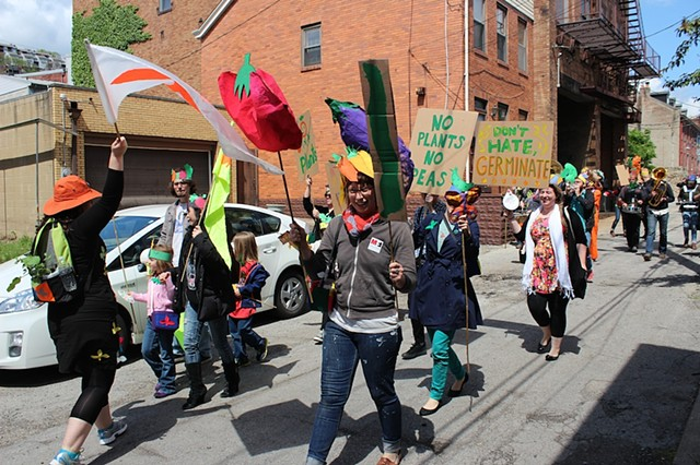 Germination Corps Plant Parade in Pittsburgh