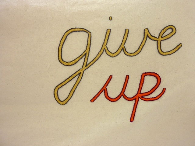 Give Up (detail)