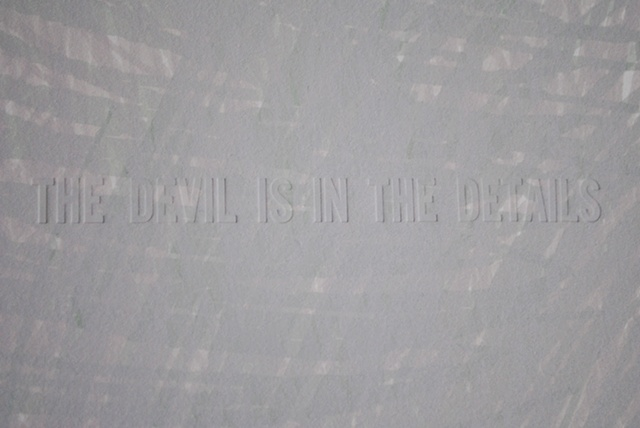 The Devil is in the Details (detail)