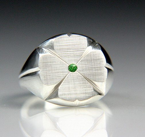 Clover Ring Hand finished production piece made to your size