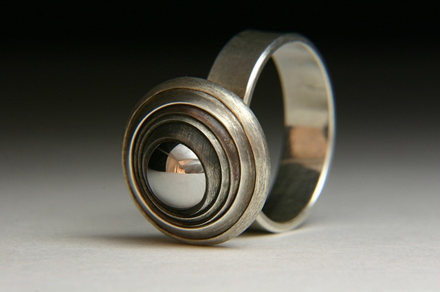 Kinetic Eye Silver Ring