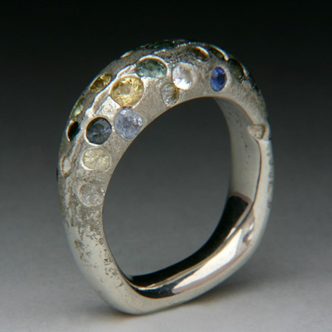 sterling silver with 25 Montana sapphires