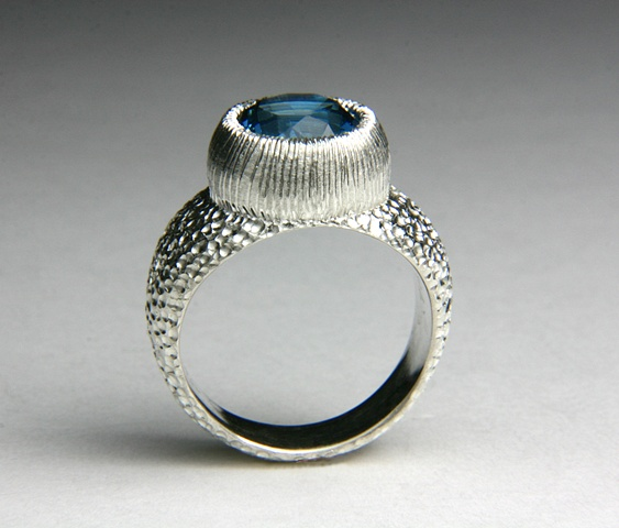Chamberlain Ring in Silver with Blue Topaz