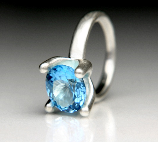 Allison Ring in Silver with Blue Topaz