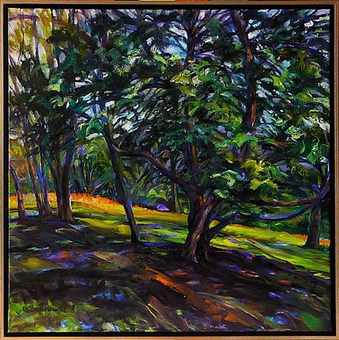 Beneath cedar shade