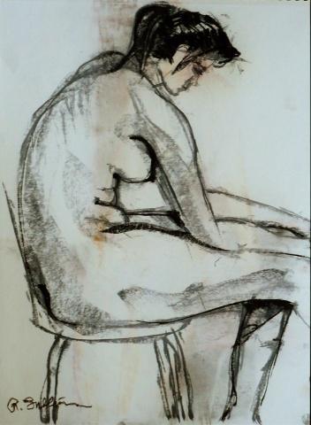 Seated figure study #15