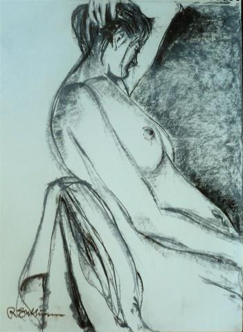 Seated figure study #16