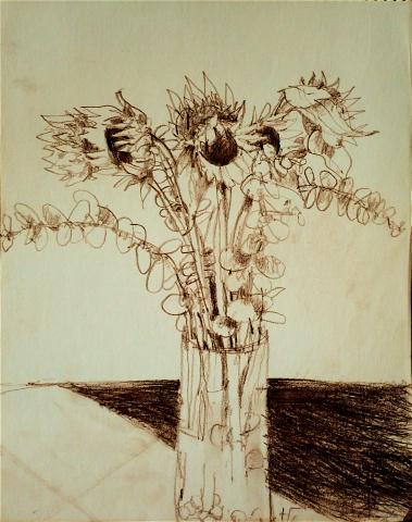 Sunflowers and Eucalyptus #1