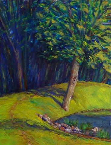 Tree at the bend – SpringPark Lake