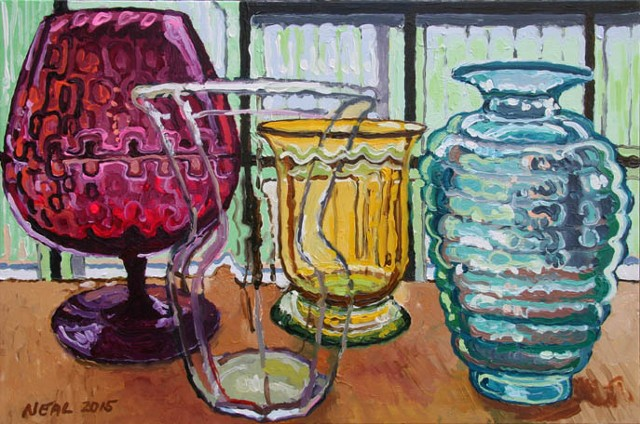 Colored Glass (Oil)