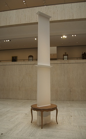 This piece was built specifically for Paige Court in The Chazen Museum of Art
