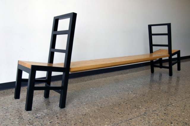 2 chairs Bench