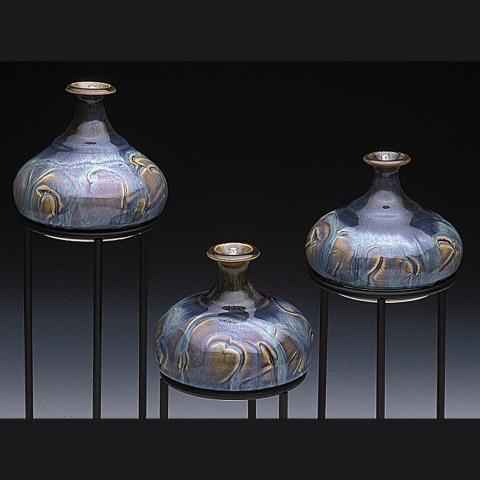 Rutile Blue glazed oil candles